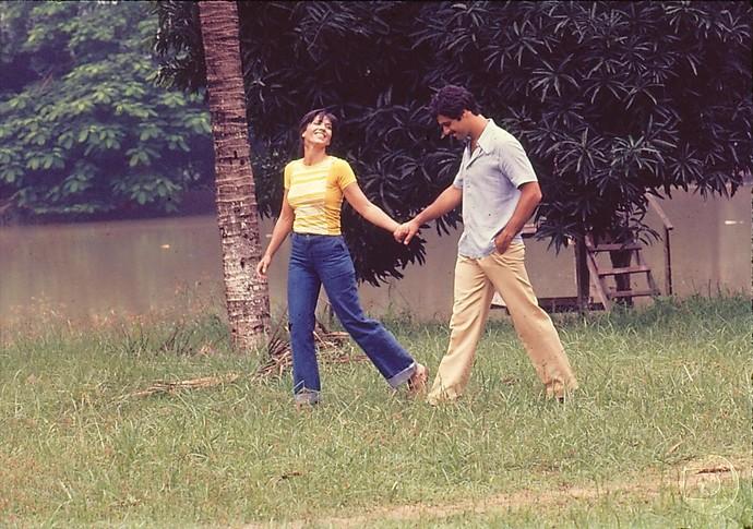 Yoná Magalhães e Antônio Fagundes foram esse lindo par romântico (Foto: Cedoc/ TV Globo)