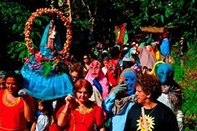 Carnaval de congo, em Roda D'água. (Foto: Lucas Calazans/ Prefeitura de Cariacica)