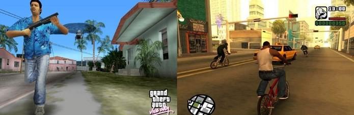 GTA Vice City e San Andreas ainda são bastante populares (Foto: Divulgação)