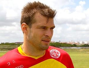 Busatto - goleiro do América-RN (Foto: Reprodução/Inter TV Cabugi)