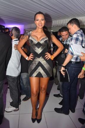 Ex-BBB Ariadna em evento em Fortaleza (Foto: Denilson Silva/ Ag. News)