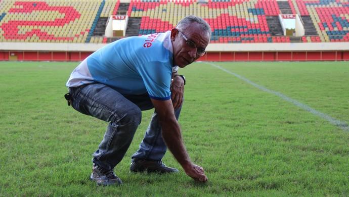 José Vieira Torres, o Dedé, administrador da Arena da Floresta (Foto: João Paulo Maia)
