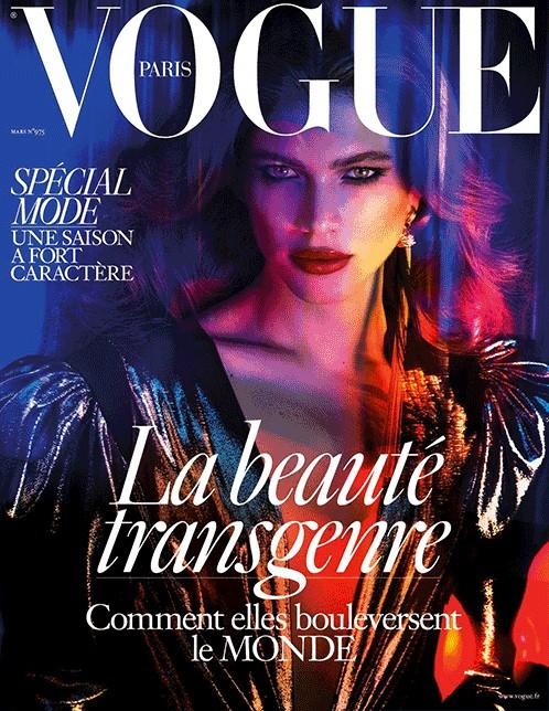 Valentina Sampaio é a primeira trans a estrelar a capa da Vogue Paris (Foto: Divulgação)