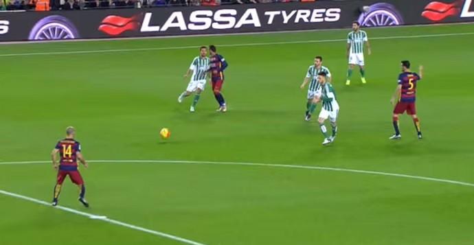 Neymar se estranha com Bruno Barcelona x Betis