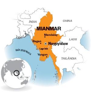 Mapa Mianmar (Foto: ÉPOCA)