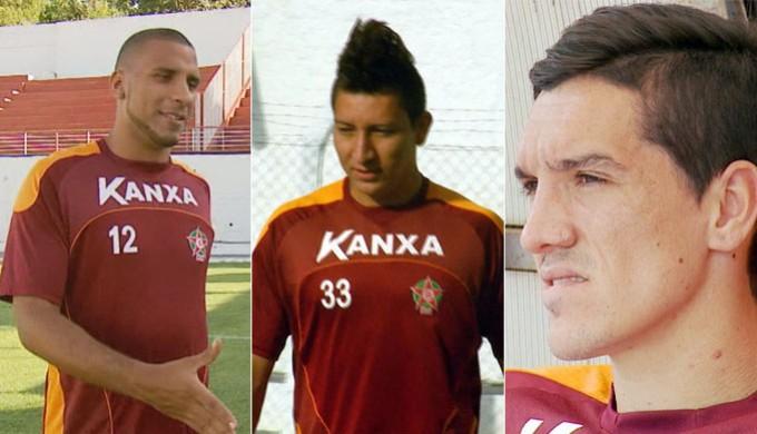 Boa Esporte dispensa atacantes Bruno Aquino, Nilson e Marcel Simão (Foto: Editoria de arte Globoesporte.com)