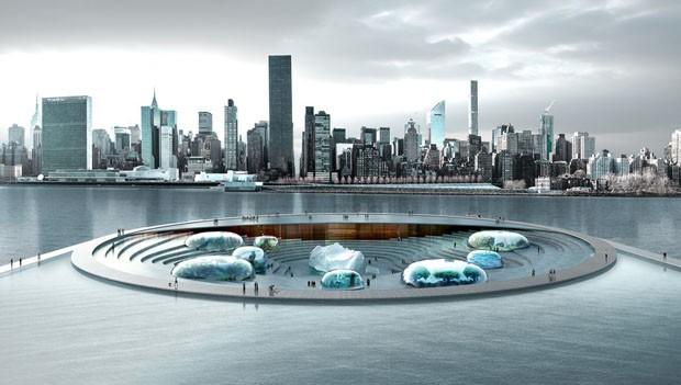 Novo aquário de Nova York vai interagir com as águas do East River (Foto: Arch Out Loud/Divulgação)