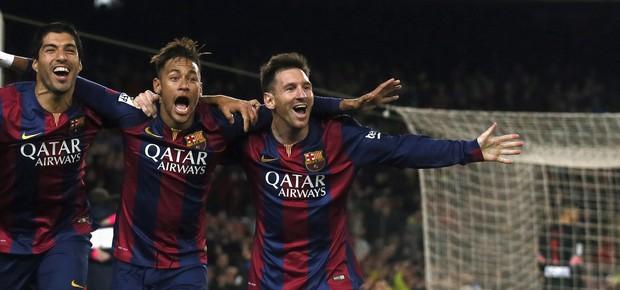 Neymar, Suarez e Messi. (Foto: Reuters)