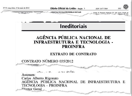 Publicação sobre a falsa autarquia no Diário Oficial. Gleisi, ao que tudo indica, não sabia nem participava do esquema (Foto: reprodução)