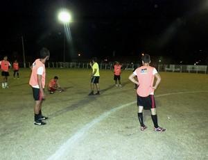 Equipe sub-20 do Pimentense se prepara para jogo contra o Rolim de Moura (Foto: Fábio Matias/Divulgação)
