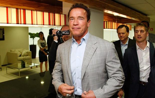 Arnold Schwarzenegger evento Rio de Janeiro (Foto: Márcio Alves / Ag. O Globo)