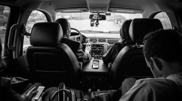Carro do Uber: app é usado em negócios (Foto: Reprodução )