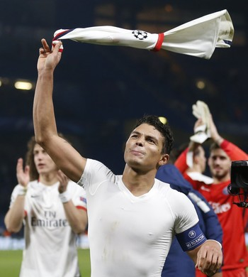 Thiago Silva Chelsea x PSG (Foto: AP)