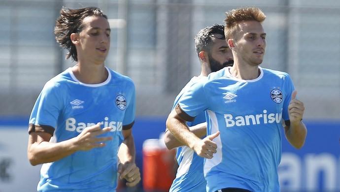 Pedro Geromel Bressan Maicon Marcelo Oliveira Grêmio (Foto: Lucas Uebel/Grêmio)