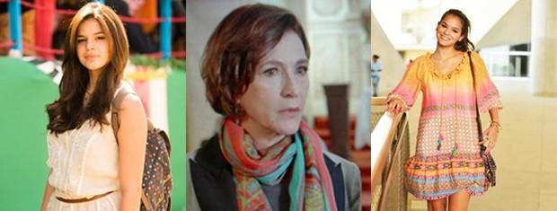 Muitas cores nos acessórios das personagens de Em Família (Foto: Em Familia/TVGlobo)