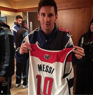 Messi NBA Washington x Indiana (Foto: Reprodução/Instagram)