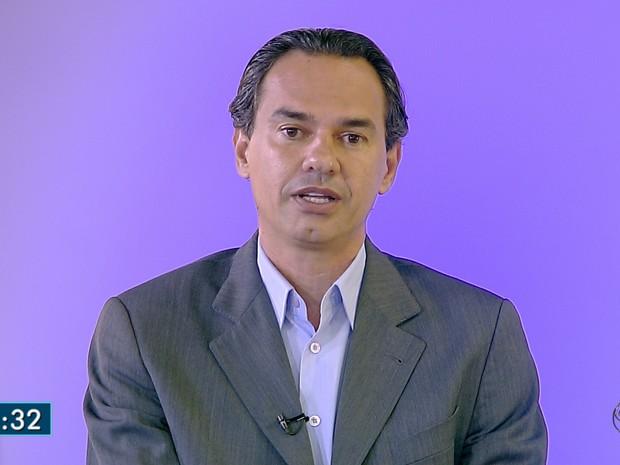 Marquinhos Trad é entrevistado no MSTV (Foto: Reprodução/TV Morena)