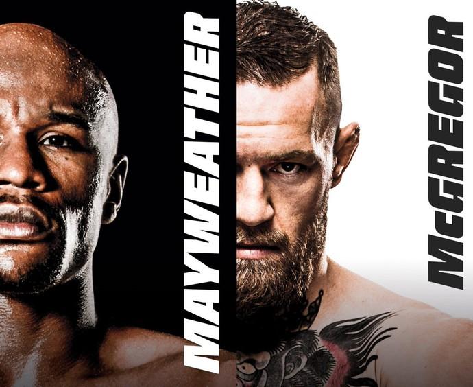 Pôster oficial de Floyd Mayweather x Conor McGregor (Foto: Divulgação)