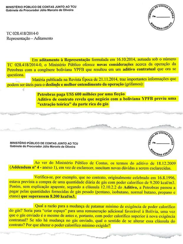 Documento do Ministério Público Federal (Foto: Reprodução)
