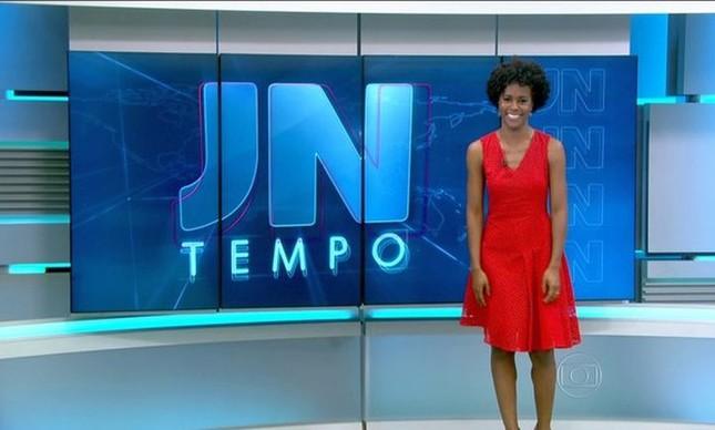 Maria Júlia Coutinho, repórter do tempo do Jornal Nacional (Foto: TV Globo / Reprodução)