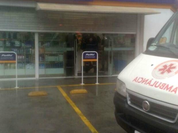 Três homens participaram do assalto à farmácia (Foto: Brigada Militar/Divulgação)
