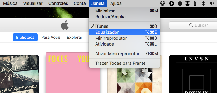 Abra o equalizador do iTunes (Foto: Reprodução/Helito Bijora)