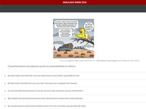 Simulado Geekie Games traz questões para treinar aluno para o Enem (Foto: Reprodução/Geekie Games)