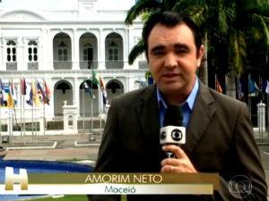 Amorim Neto no Jornal Hoje  (Foto: Reprodução/ Rede Globo)