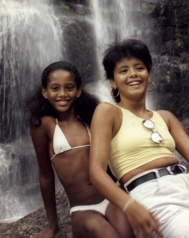 Taís Araújo e a irmã Cláudia Araújo (Foto: Instagram/Reprodução)