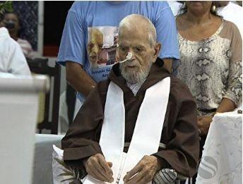 Frei Miguel completa 104 anos (Foto: Reprodução TV Sergipe)