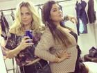 Natallia Rodrigues posa com Fabiana Karla: 'Ela é cheia de charme'