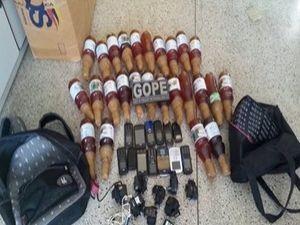 Bebidas alcoólicas , celulares e carregadores (Foto: Divulgação/Assessoria/Sindpen )