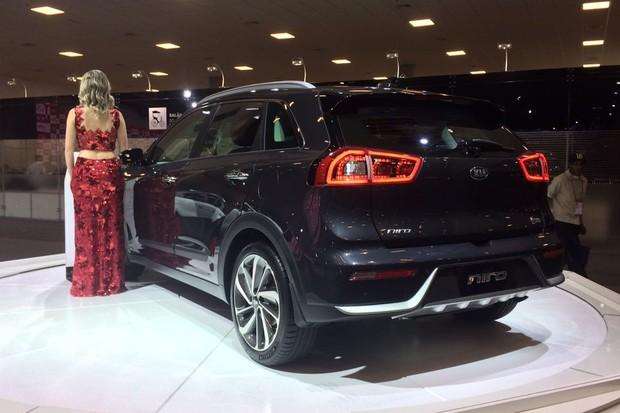 Kia Niro no Salão do Automóvel (Foto: Guilherme Blanco Muniz / Autoesporte)
