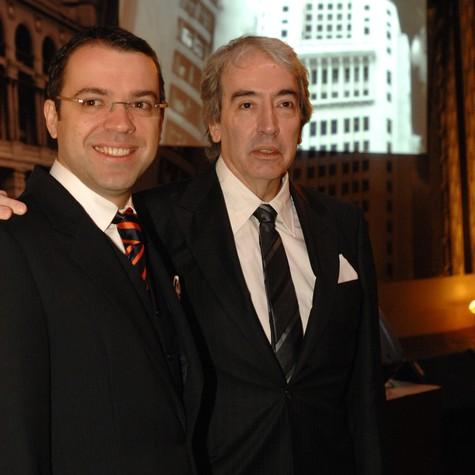 Mário Teixeira e Alcides Nogueira (Foto: Globo/Zé Paulo Cardeal)