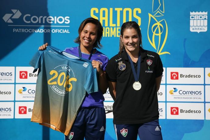 Juliana Veloso e Tammy Galera garantiram vaga no trampolim de 3m (Foto: Satiro Sodré / SSPress / CBDA)