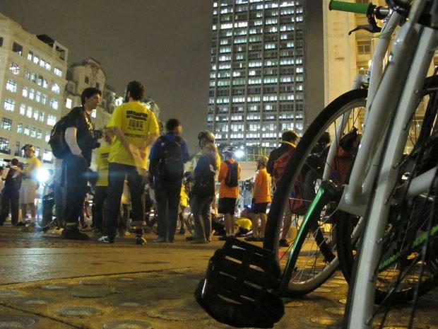 Bicicleta chega em segundo lugar no desafio intermodal (Foto: Paulo Toledo Piza/G1)