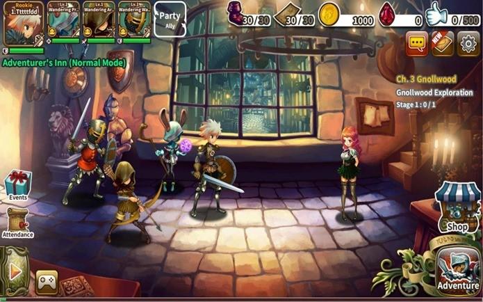 RPG com comandos simplificados, mas evolução dos personagens é complexa (Foto: Divulgação)