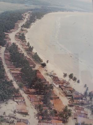Prefeitura de Baía da Traição tem imagem antiga da orla  (Foto: Reprodução)