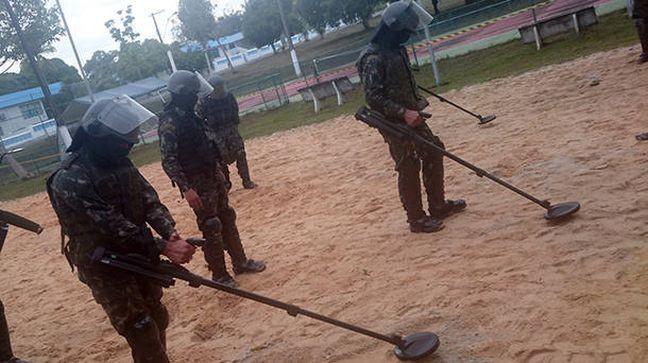 Militares treinaram para fazer a varredura (Foto: Exército Brasileiro)