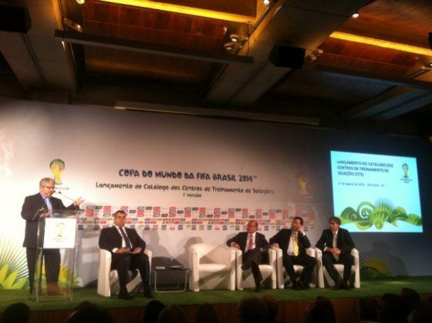 Evento da Fifa para apresentar centros de treinamentos da Copa (Foto: Leandro Canônico/GLOBOESPORTE.COM)