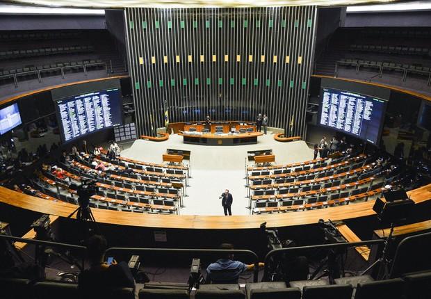 Plenário da Câmara dos Deputados, antes da sessão de votação do impeachment da presidente Dilma Rousseff (Foto: Antônio Cruz/Agência Brasil)