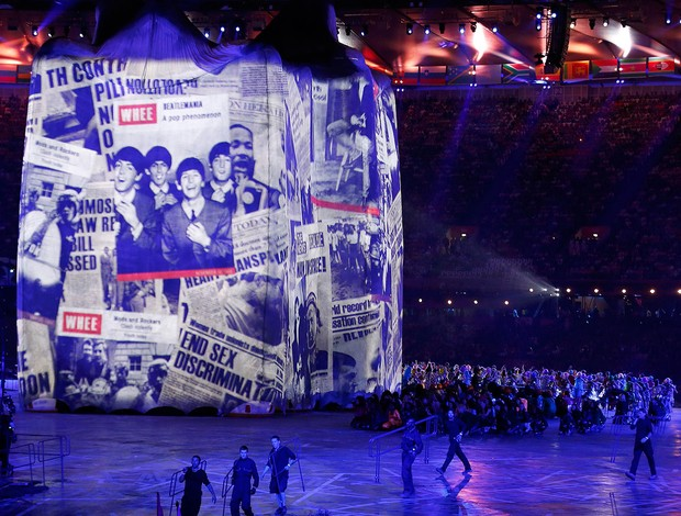 Cerimônia de abertura, Londres, Beatles (Foto: Getty Images)