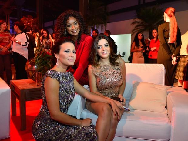 Juliana Knust, Cris Vianna e Giovanna Lancellotti em evento no Rio (Foto: André Muzell/ Ag. News)