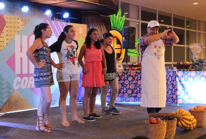 Márcio Braga animou a plateia (Foto: Katiúscia Monteiro/ Rede Amazônica)