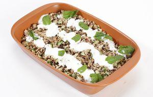 Salada de grãos com coalhada