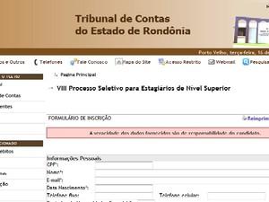 Inscrição pode ser feita através do portal do TCE/RO (Foto: Divulgação/G1RO)