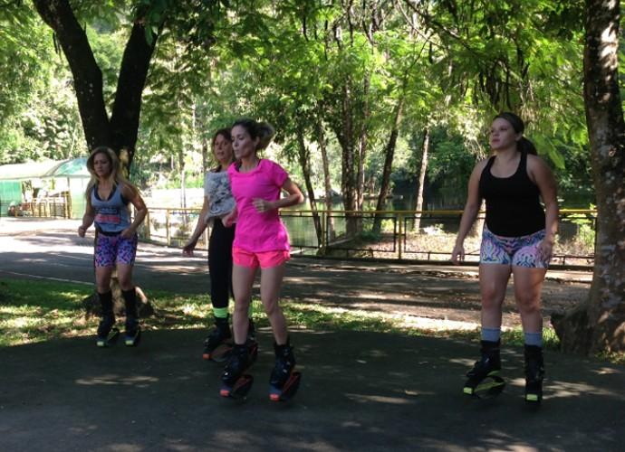 Diana mandou bem no Kangoo Jumps (Foto: Camila Santos)