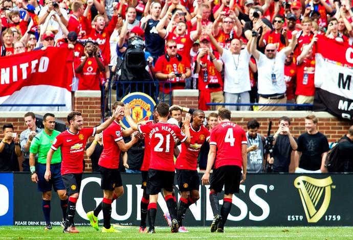 Ashley Young Manchester United gol Real madrid (Foto: Agência AP)