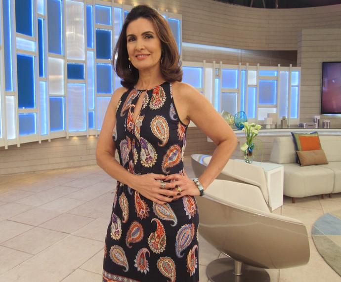 Veja detalhes do look de Fátima Bernardes (Foto: Viviane Figueiredo Neto/Gshow)