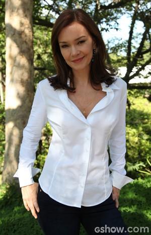 A atriz diz que tem características parecidas com sua Helena (Foto: Carol Caminha/TV Globo)